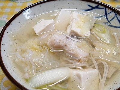 寒の鱈で温まるその2鱈チリ