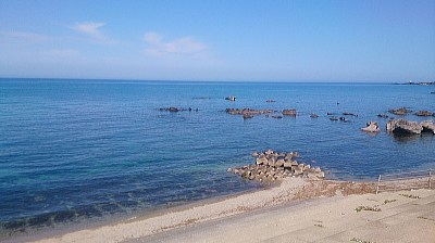 透明度が上がってきた日本海